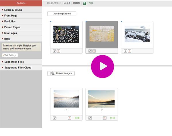 FolioLink Portfolio Websites with Blog Feature