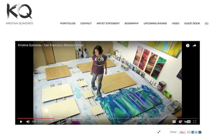Professional Websites for Artists and Painters / Artist Website ...