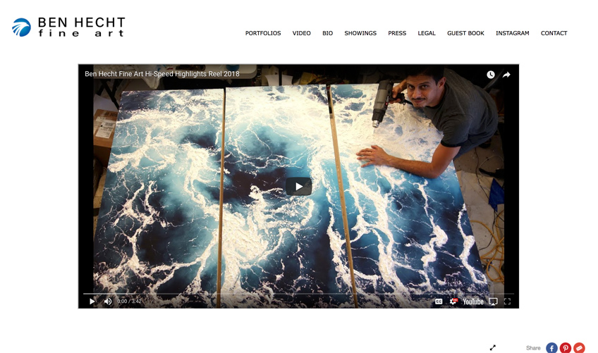 Professional Websites For Artists And Painters Artist Website Service Foliolink,Negative Space One Logo Design