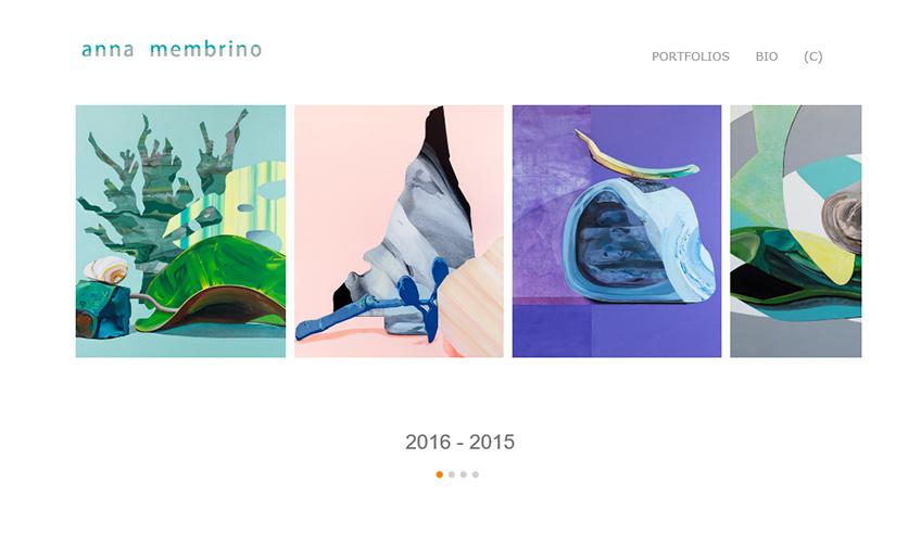 portfolio website artist websites artists site professional membrino anna sample painters service